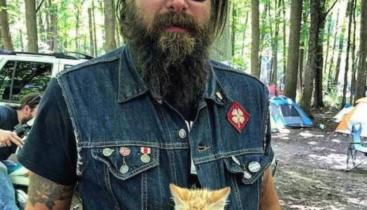 Biker salva gattino e diventano amici inseparabili